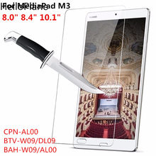 Tempered Glass Screen Protector For Huawei MediaPad M3 8.0 8.4 10.1 Lite 10 CPN-AL00 BTV-W09 BAH-W09 Tablet Protective Film(China)