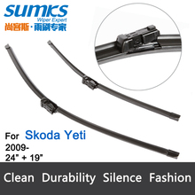 "Wiper blades for Skoda Yeti (from 2009 onwards) 24""+19"" fit push button type wiper arms only"