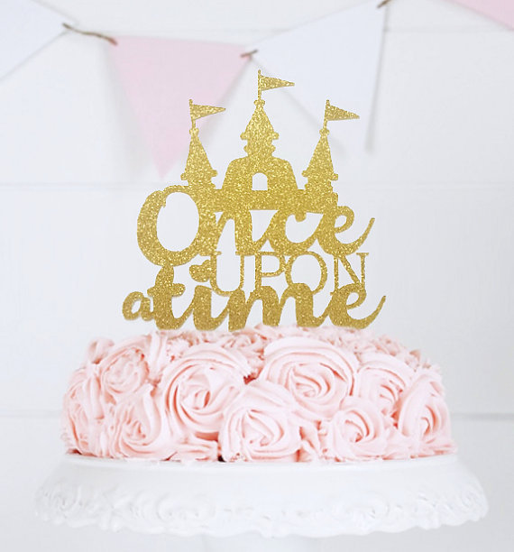 Once Upon A Time Cake Topper Princess Castle Cake Topper Fairy Tale