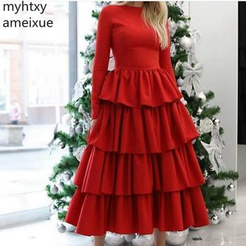 Red Event New Arrival Long Sleeve Muslim Evening Dress 2020 Vintage Ever Pretty Gowns For Women Robe Soiree Dubai De