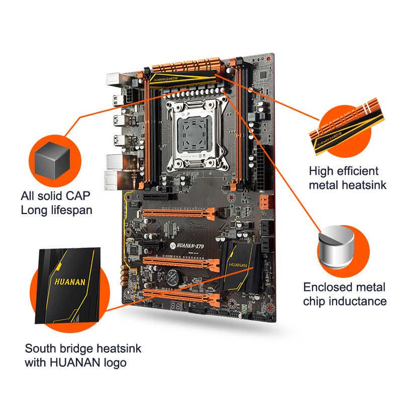 Máy tính lắp ráp HUANAN cao cấp X79 LGA2011 chơi game Bo mạch chủ CPU Xeon E5 2640 C2 RAM 32G (2*16 g) DDR3 1333MHz RECC