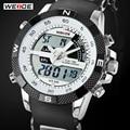 Большая распродажа. Роскошные брендовые мужские спортивные часы WEIDE. Многофункциональные водонепроницаемые кварцевые электронные часы 3ATM со светодиодной подсветкой. Военные часы
