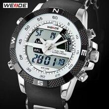 ¡Súper venta! Reloj deportivo de marca lujosa WEIDE para hombres 3ATM sumergible, multifunción, Quartz digital LED, Relojes militares(China (Mainland))