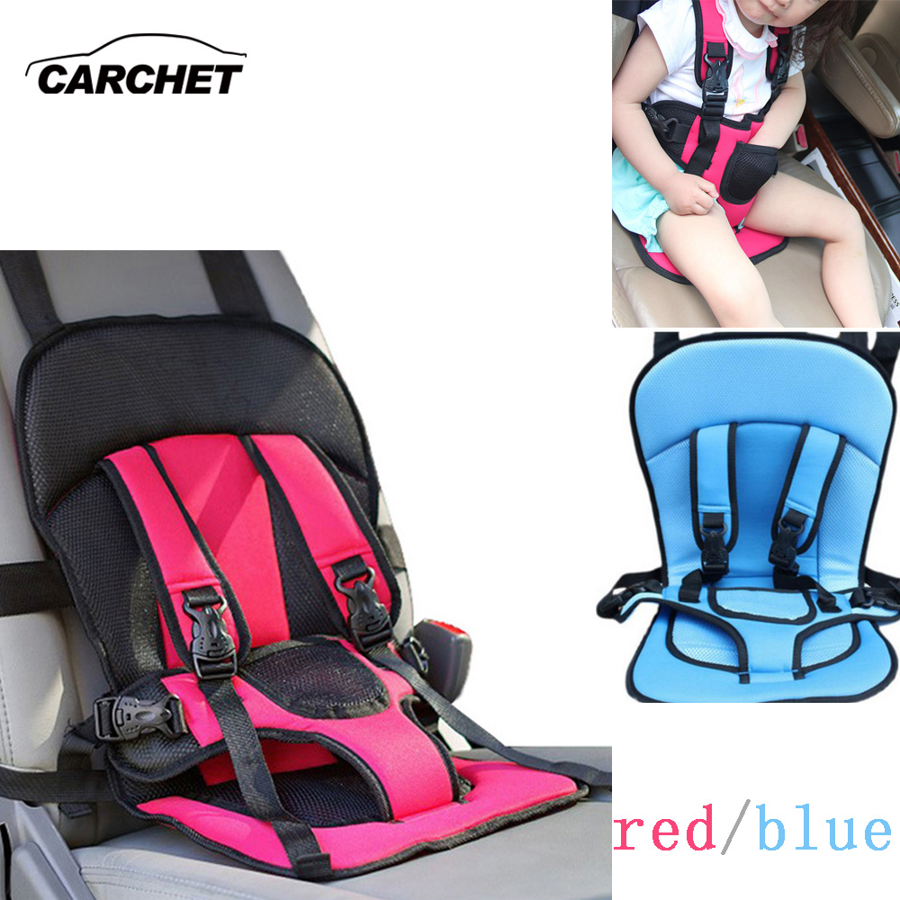 CARCHET Baby Car Safety Cover Strap Adjuster Pad Harness Children Seat Belt Clip Red Blue Baby Child Protector Car Seat Cover