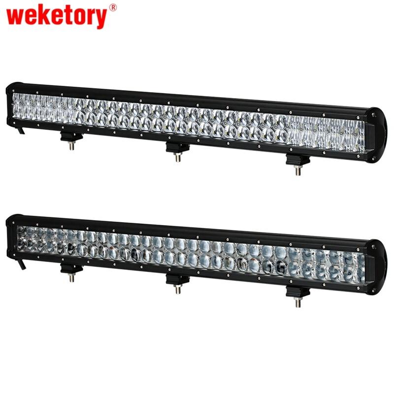 Weketory 28 pouce 300 W 4D 5D LED Travail Light Bar pour Tracteur bateau OffRoad 4WD 4x4 Camion SUV ATV Spot Flood Combo Faisceau 12 V 24 v