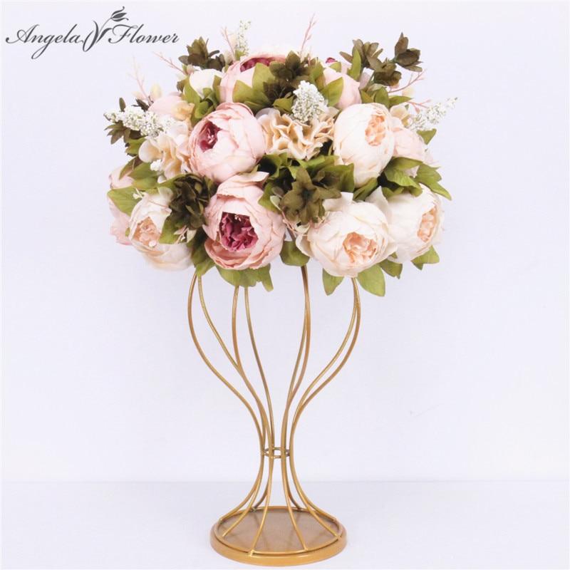 Заказной 35 см искусственный цветок шар центральная часть + 1 м пионы ряд цветов поставка Декор Свадебный арочный стол цветок bouqet
