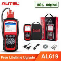 Autel AL619 OBD2 Scanner Car Ferramenta de Diagnóstico Do Carro Leitor de Código de Motor, ABS, SRS do Scanner Automotivo melhor do que lançar X431