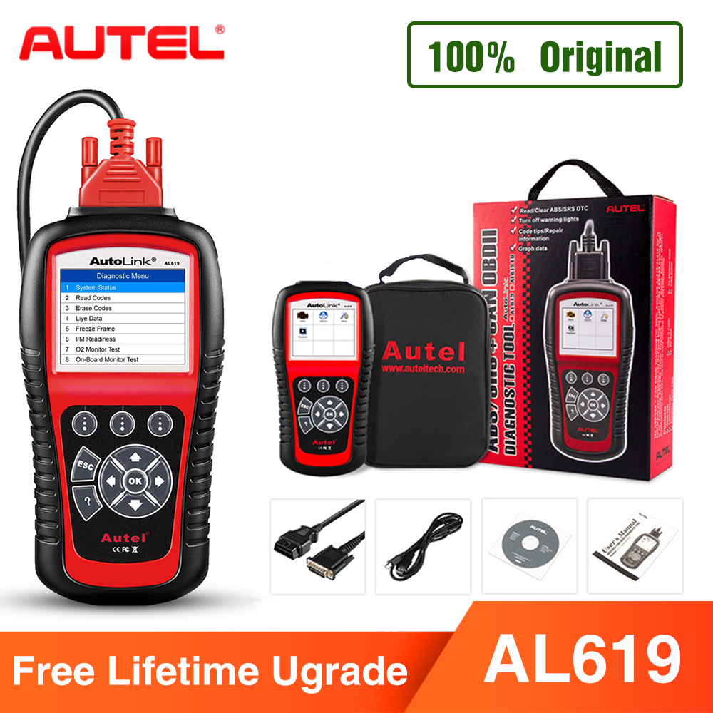 Autel AL619 OBD2 Scanner Car Diagnostic Tool Car Code Reader Engine,ABS,SRS Automotive Scanner better than launch X431