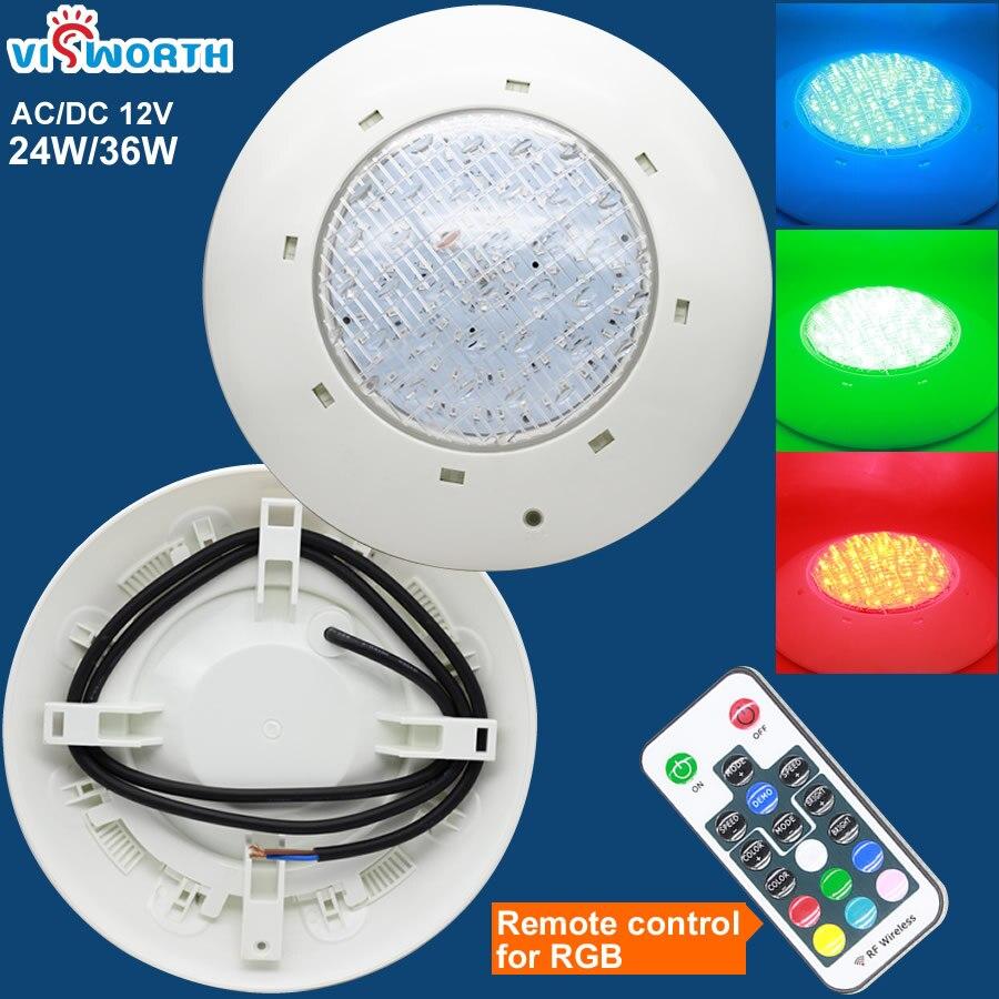 [VisWorth] 24 Вт 36 Вт светодиодный свет для бассейна IP68 ...