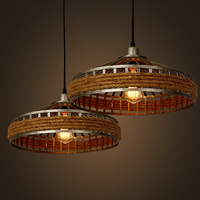Amerikanischen land kunst lampe kronleuchter retro wohnzimmer lichter seil hängelampe Industrielle Garten Restaurant
