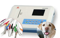 Veterinary 3 Channel ECG / EKG Machine with Printer and Paper and USB Software 300G VET for animals, CE Approved Free shipping