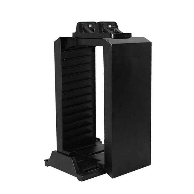 Multifunctional Disk Storage Stand Kit with Dual Controllers Charging Dock for Playstation 4 PS4 Pro/PS4 Slim/PS4/X-ONE S