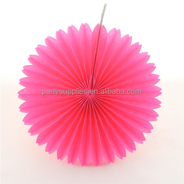 50pcs bright pink paper fan party decoration 10 hot pink bridal shower