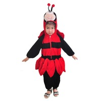 Cute Little Ladybug Romper Jumpsuit Baby Toddler Bodysuit One Piece Hooded Animal Onesies Fancy Dress Halloween