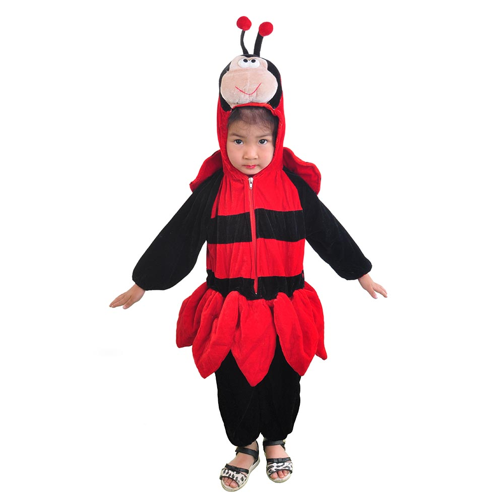 Cute Little Ladybug Romper Jumpsuit Baby Toddler Bodysuit One-piece Hooded Animal Onesies Fancy Dress Halloween Costume For Kids