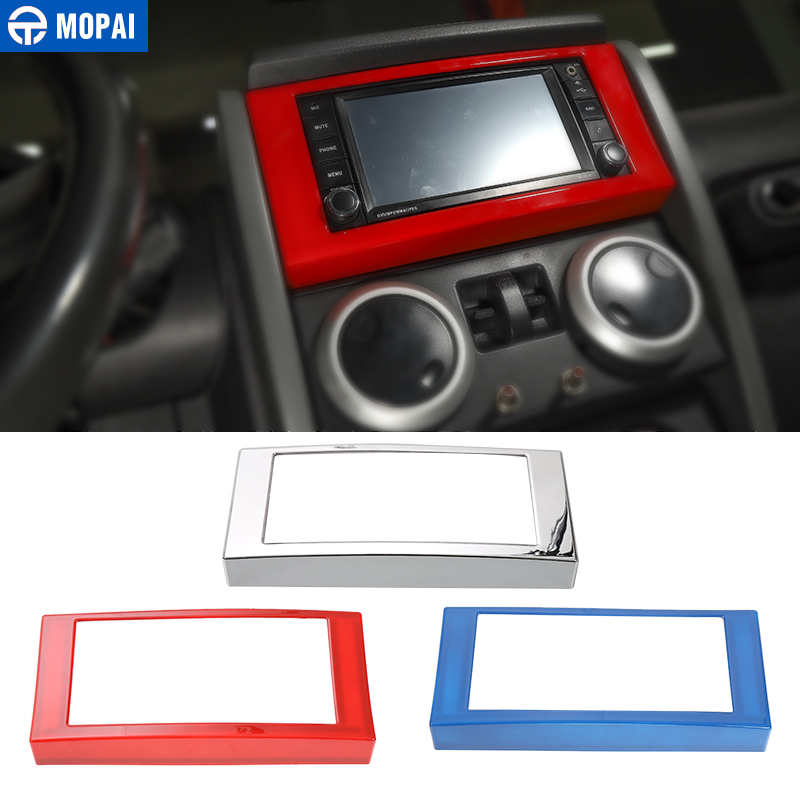MOPAI Car Dashboard Navigation CD Panel Frame Decoration Cover Stickers for Jeep Wrangler 2007-2010 Car Accessories Styling mopai multifunctional cloth car interior decoration seat armrests pads cover for jeep wrangler 2007 2016 car styling