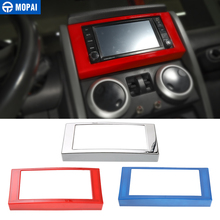 MOPAI Car Dashboard Navigation CD Panel Frame Decoration Cover Stickers for Jeep Wrangler JK 2007-2010 Accessories Styling