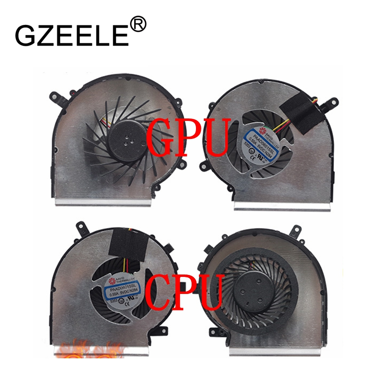 GZEELE new Laptop cpu cooling fan for MSI GE62 MS-1795 GE72 PE60 PE70 GL62 series Laptop Cooler Radiators Cooling Fan 3Lines FAN laptop cooling fan for asus pu500ca fan