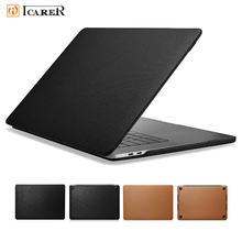 Genuine Leather Laptop Case for Apple Macbook Pro 15 2018 A1990 A1707 Flip Cover for Macbook Pro 13 2018 A1989 A1706 A1708 Shell