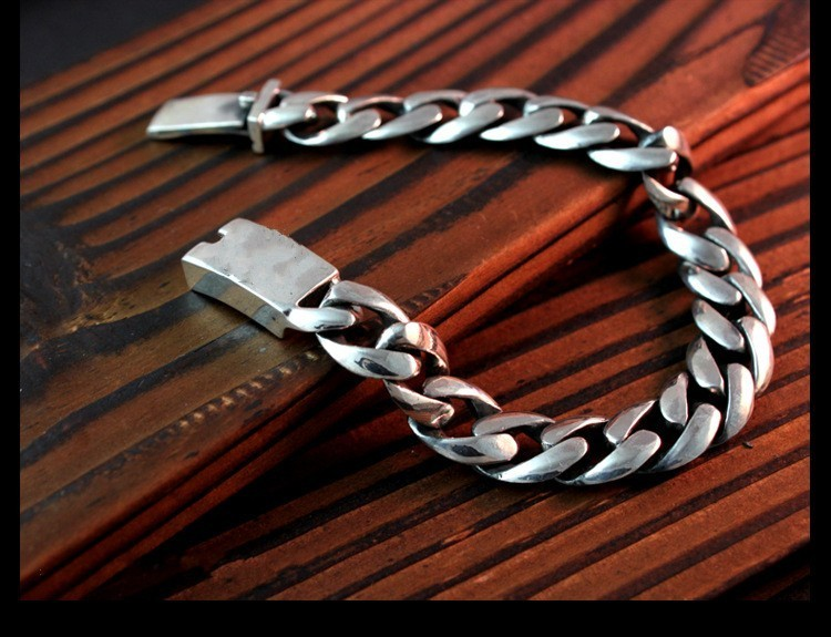 925 sterling silver jewelry Retro anchor men and women spend sterling silver bracelet s925 sterling silver silver bracelet retro fashion jewelry made of old men and women