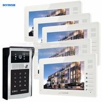7 Inch 1024 X 600 HD TFT LCD Screen Video Door Phone Video Intercom Doorbell RFID