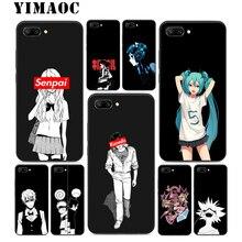 YIMAOC Anime Girl Hatsune Miku Silicone Case For Huawei Honor Mate 10 P20 P10 P9