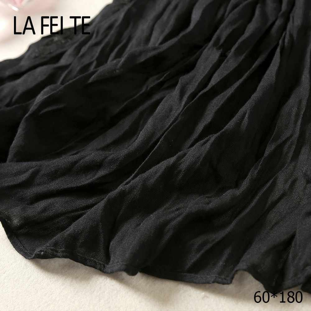 Хлопковый длинный женский мужской шарф, мужской шарф, Femme Crinkle, хиджаб, кашемировые шелковые носочки, воротник, женский зимний черный шарф из вискозного шелка, для мужчин 2019