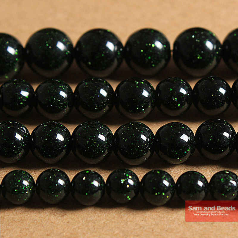 "Free Shipping Natural Dark Green Sand Stone Round Loose Beads 16"" Strand 4 6 8 10 12 MM Pick Size For Jewelry DGSB01"