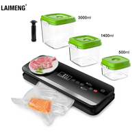 LAIMENG Automatic Vacuum Food Sealer With Food Grade Vacuum Bags Packing Machine Vacuum Packer Package Kitchen Appliance S219