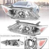 1 пара Водонепроницаемый прочный фары Clear проектор левой и правой фар Замена США построена модель 2010 2011 Toyota Camry