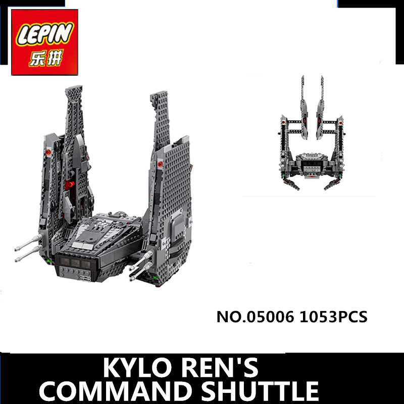 IN STOCK  LEPIN 05006 Hot Sale 1053pcs  Kylo Ren Command Shuttle Educational Building Blocks Kid's Toys compatible Toys hot sale 1000g dynamic amazing diy educational toys no mess indoor magic play sand children toys mars space sand