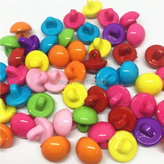 100 Pcs Fleur Tige bouton plastique pour la couture embellissements 13 mm Artisanat