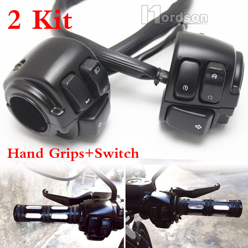 US $70.19 22% OFF|1 Pair Black Motorcycle Handlebar Switch Control on