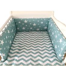 Krippe Stoßfänger Um Cot Baby Kindergarten Krippe Sets Stoßstangen für Baby Cot Cradle Cartoon Junge Mädchen Babybett Bettwäsche Lange Stoßstange 180x30cm