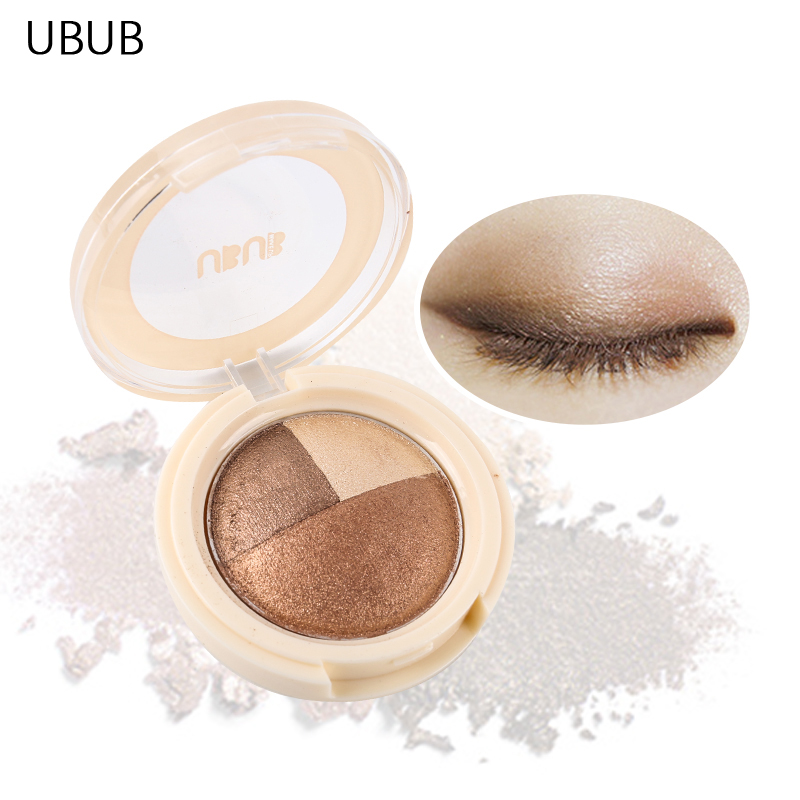 UBUB Brand Makeup Metallic Eyeshadow Palette Waterproof Long Lasting Nude Smoky Glitter  ...