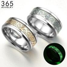 Anneaux lumineux en acier inoxydable, 1 pièce, accessoires unisexes, anneaux fluorescents lumineux pour homme et femme, cadeau