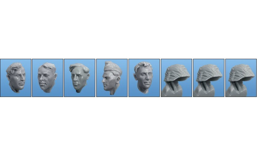 1:35   WWII British Troops Head (5 Figures)11