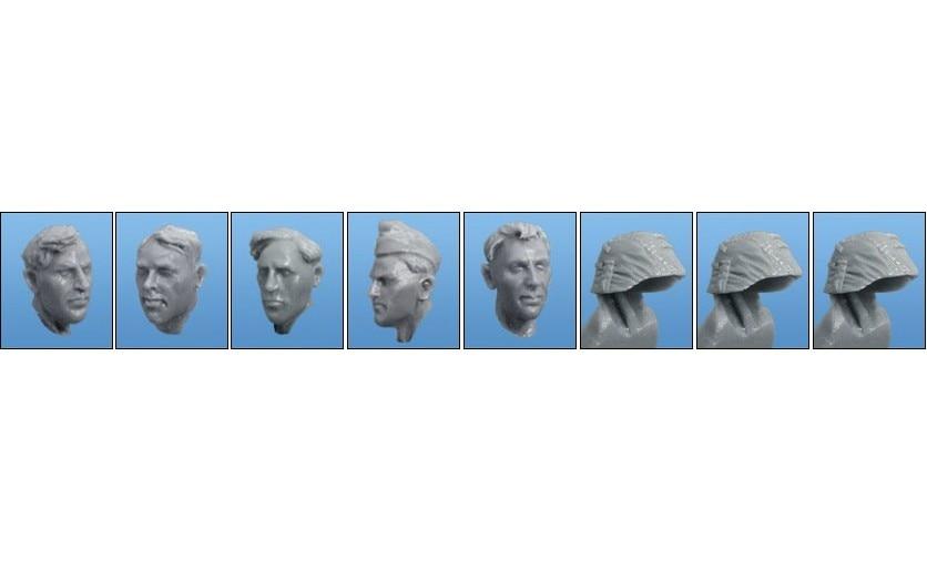 1:35   WWII British Troops Head (5 Figures)11