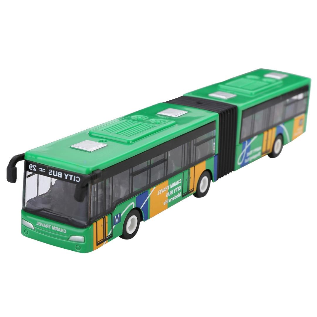 Mayitr 1: 64 18 cm Modelo Diecast Metal Veículo Ônibus Carros das Crianças Pequenos Brinquedos Do Bebê Puxar Para Trás Brinquedo Presente Para crianças