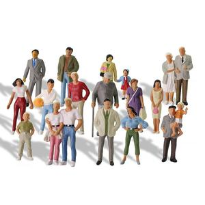 Image 2 - 20pcs All Standing 1:43 Scale Painted Figures O scale People Railway Figures Scenery Model Railway
