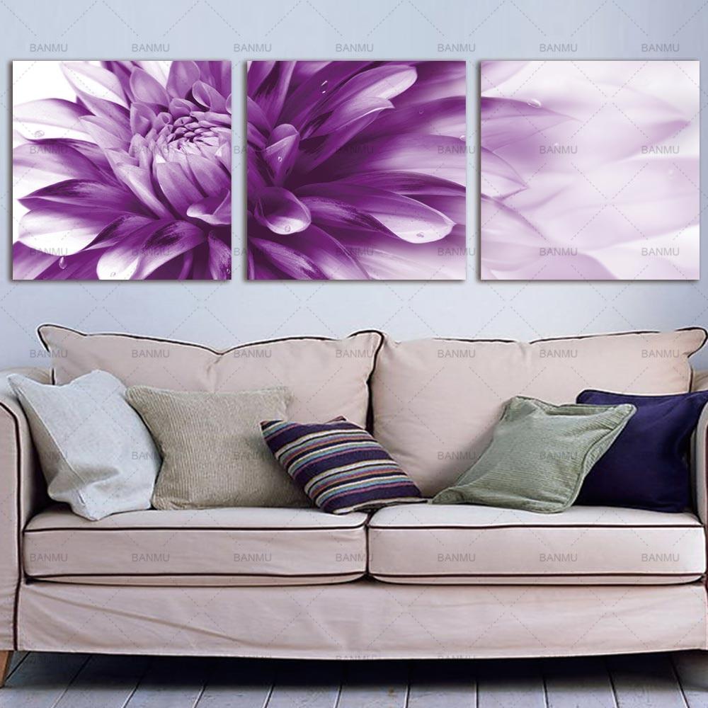 Kanvas lukisan, Seni dinding bunga seni HD Giclee seni cetak di atas - Dekorasi rumah - Foto 6