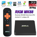 Caixa de TV Rikomagic RKM MK68 RK3368 64Bit Octa-núcleo Android 5.1 Bluetooth 4.0 HDMI 2.0 2.4 GHz/5 GHz Dual Band WiFi Apoio 4 K x 2 K