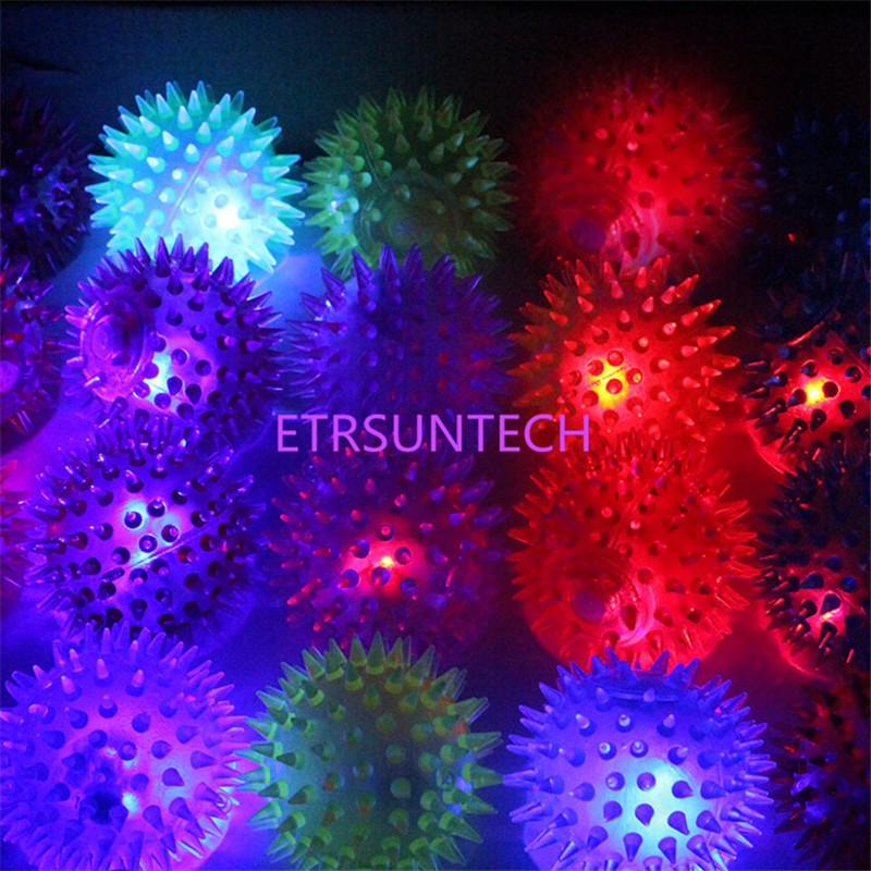 120pcs Colorful Soft Rubber Luminous Pet Puppy Dog Chewing Playing Elastic Ball Toy Randomly Color Small