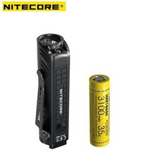 Nitecore P18 Unibody Die-case Futuristic CREE XHP35 HD LED 1800 Lumens with Auxiliary Red Light Tactical Flashlight(China)