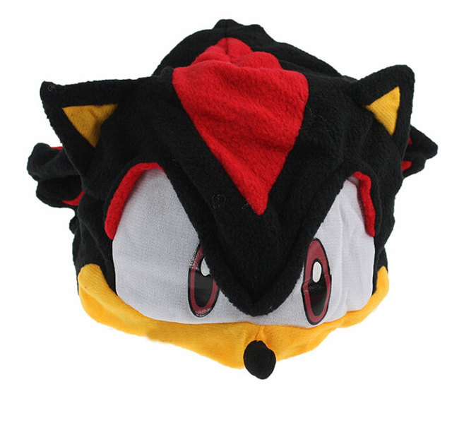 OHMETOY Sonic The Hedgehog Fleece Cosplay Hat Toys Sonic X FS Anime Plush Beanie Cap Costumes For Kids Children Teenagers