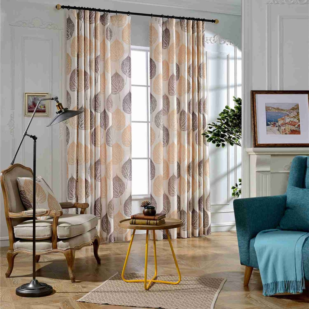 US $19.99 |Aliexpress.com : Buy 2019 Autumn leaves Custom Curtain  Contracted Contemporary Curtains for Living Room Bedroom Shading Nordic  Style ...