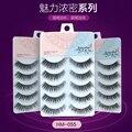 New brand women's makeup 3set/lot(15pairs) high quality plastic cotton stalk eyelash extension fashion thick long false eyelash