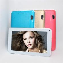 Tableta de 7 pulgadas MTK6572 2G llamada de Teléfono Solo SIM Bluetooth Dual Core 4 GB Android tablet 4.4G-wifi sensor #