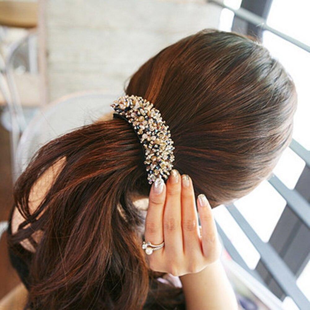 2019 Fashion Hair Clip Hairpins Women's Crystal Hairpin Rhinestone Hair Pin Banana Hair Clip Hair Styling Accessories Wholesale