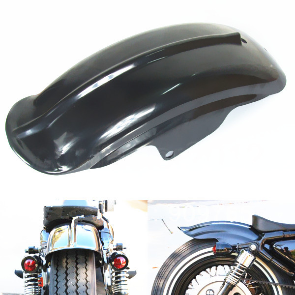 Black Rear Fender For Harley Sportster XL Solo Cafe Racer Bobber Chopper XL1200 883 Motorcycle